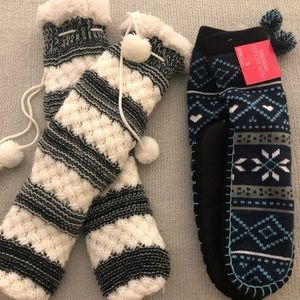 2 pairs of new cozy slipper socks!